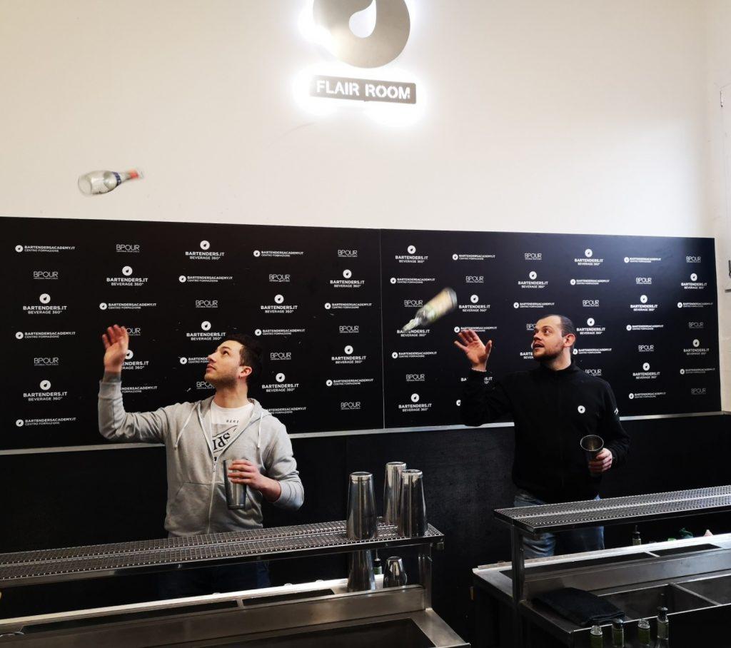 corso barman flair Bartenders Academy Italia- flair room